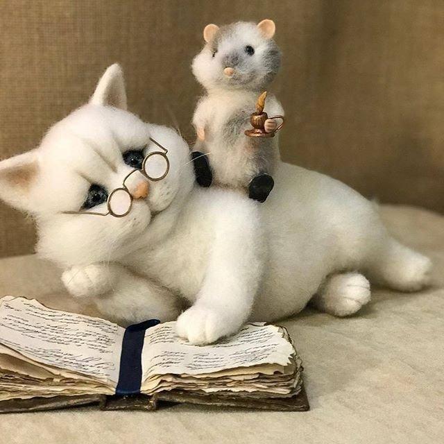 Чудесный кот ученый и его друг.