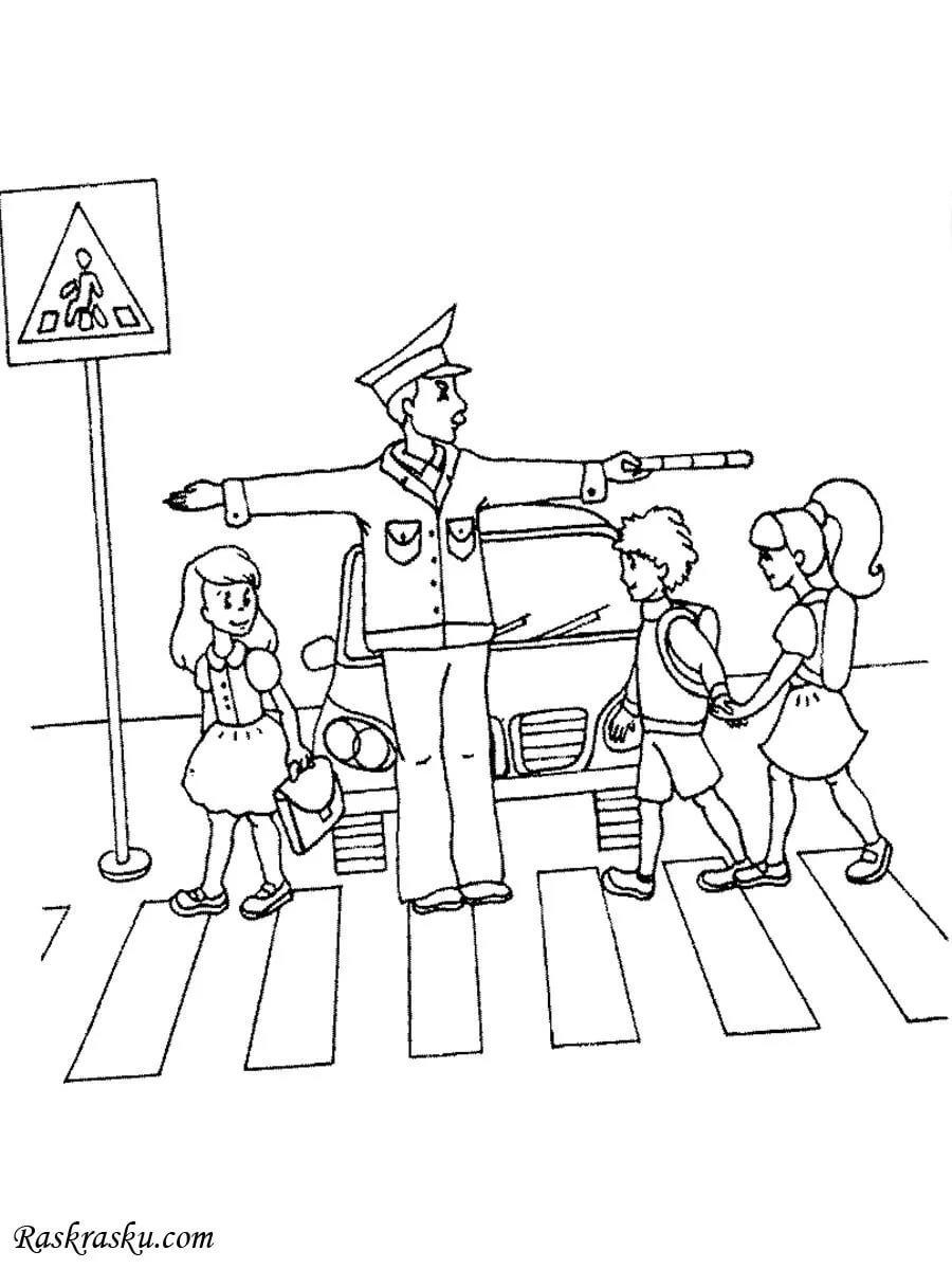 Контуры картинок по правилам дорожного движения