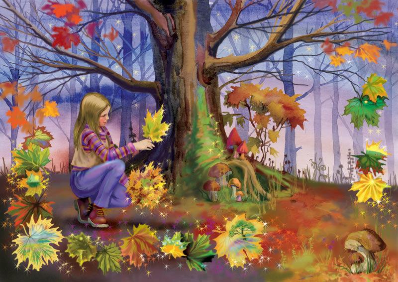 Осень в лесу картинки для детей в детском, любимому