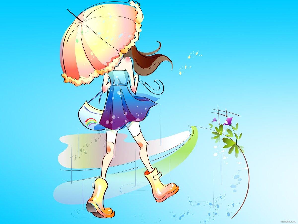 Веселая девчонка картинка нарисованная