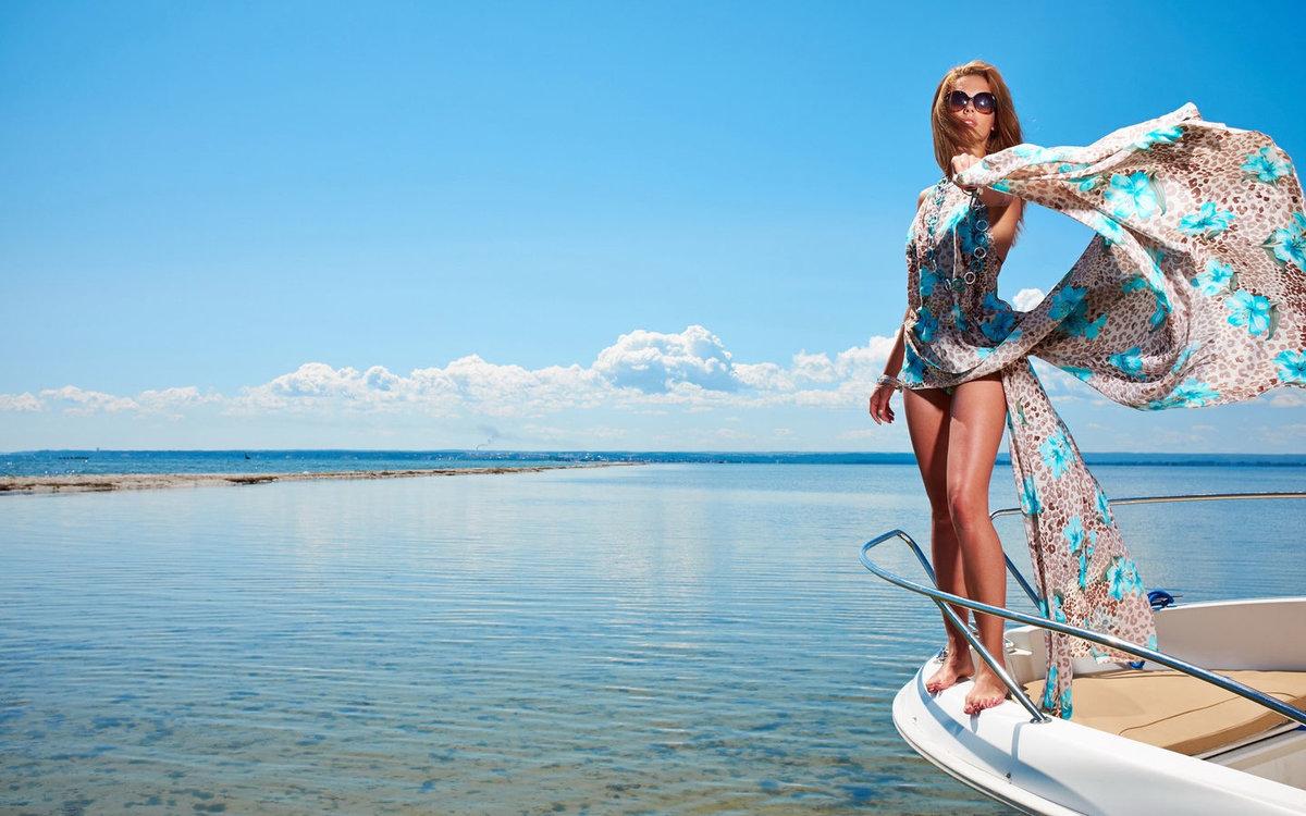 девушки на яхтах