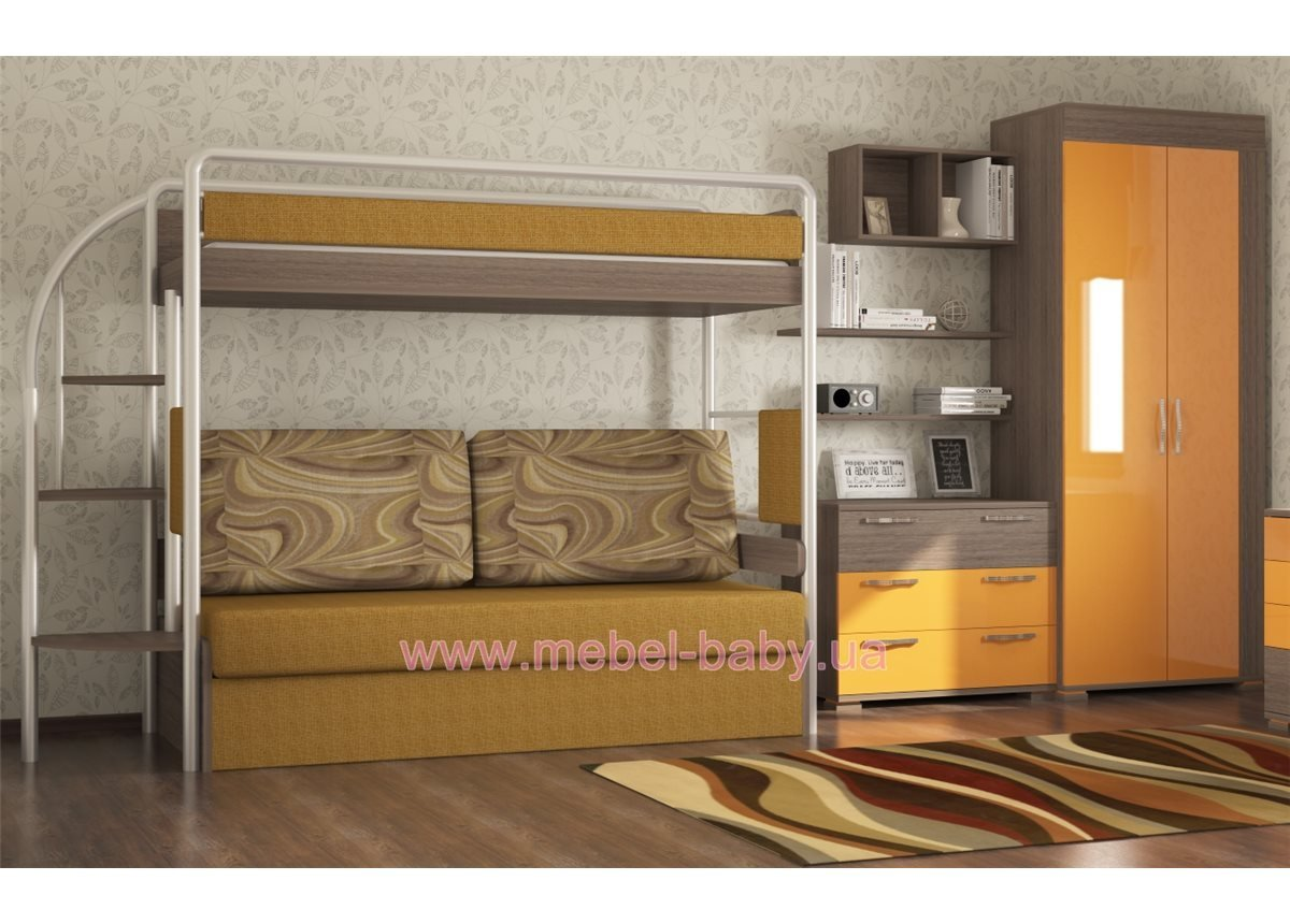 👶 Двухъярусная кровать DJ-L-01 Эдисан 80х190 ЛДСП - MEBEL-ba ... 05b665b9b843f