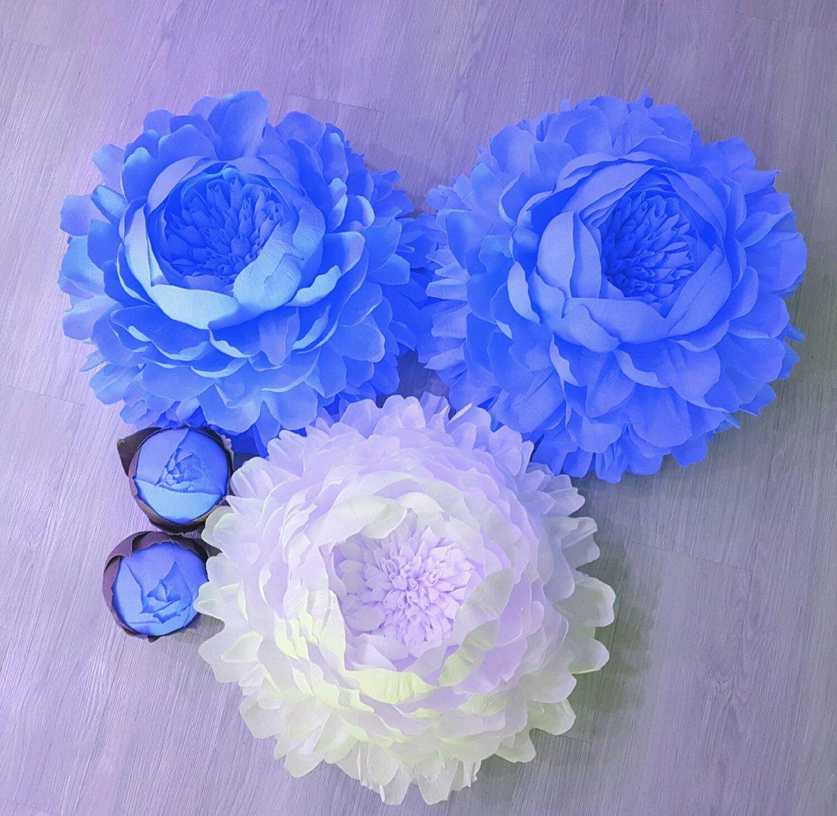 Синие цветы своими руками фото 882