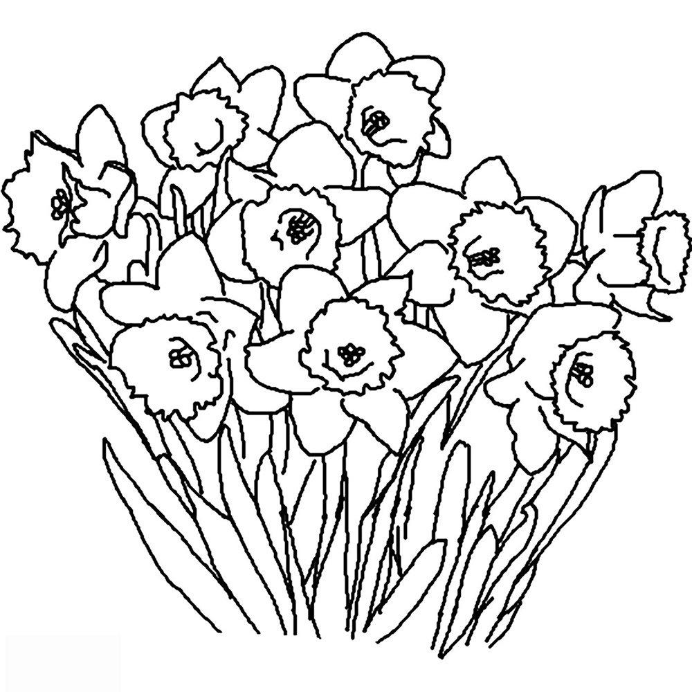 Раскраски открытки с цветами