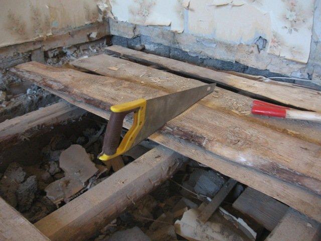 замена деревянного пола на даче