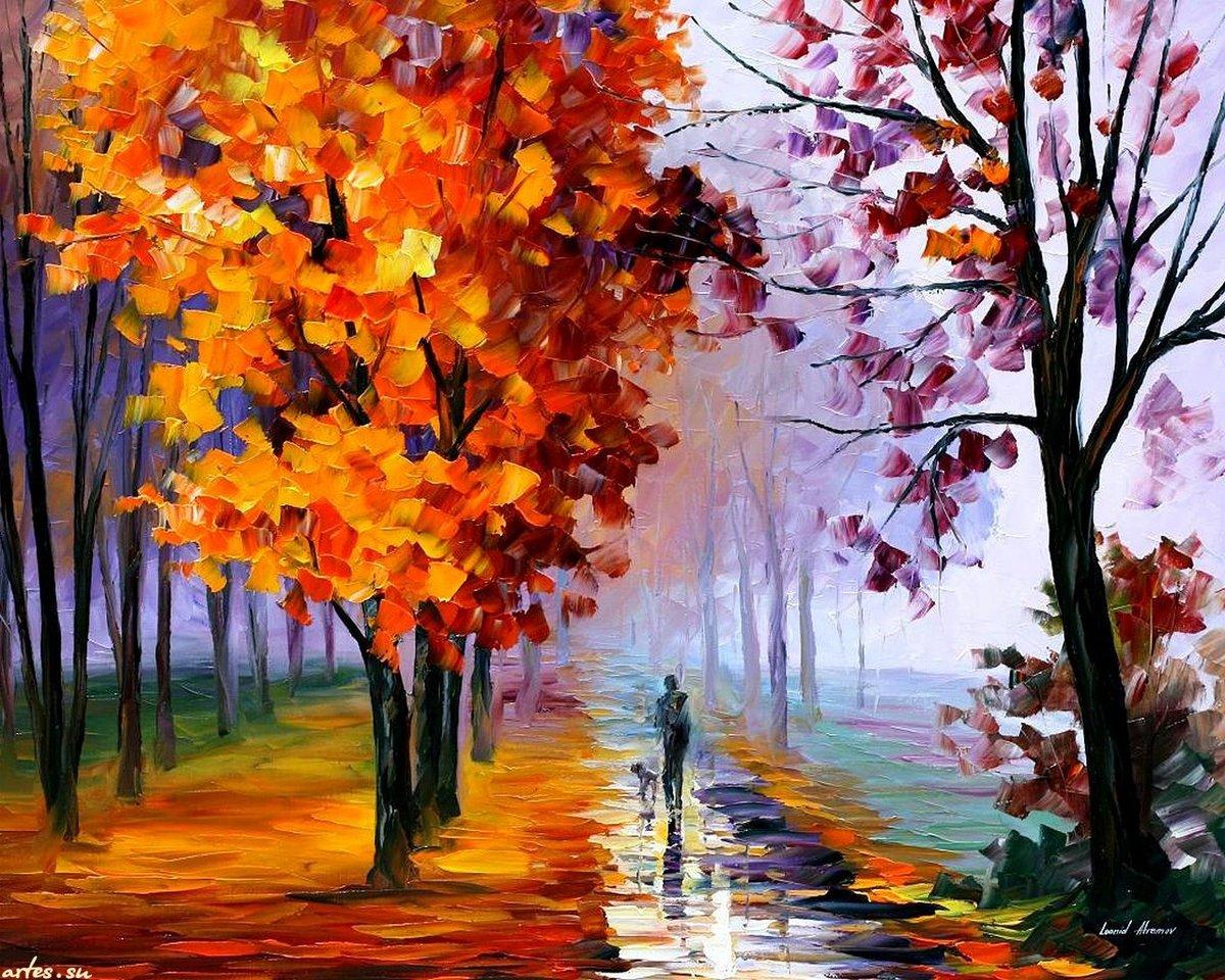 Осень картинки нарисованные