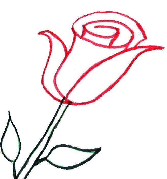 стиле картинки роза как нарисовать фото