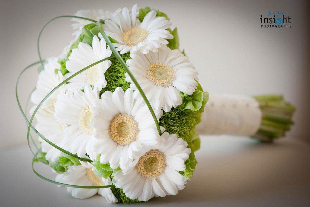 Свадебные букеты из белых гербер, всего