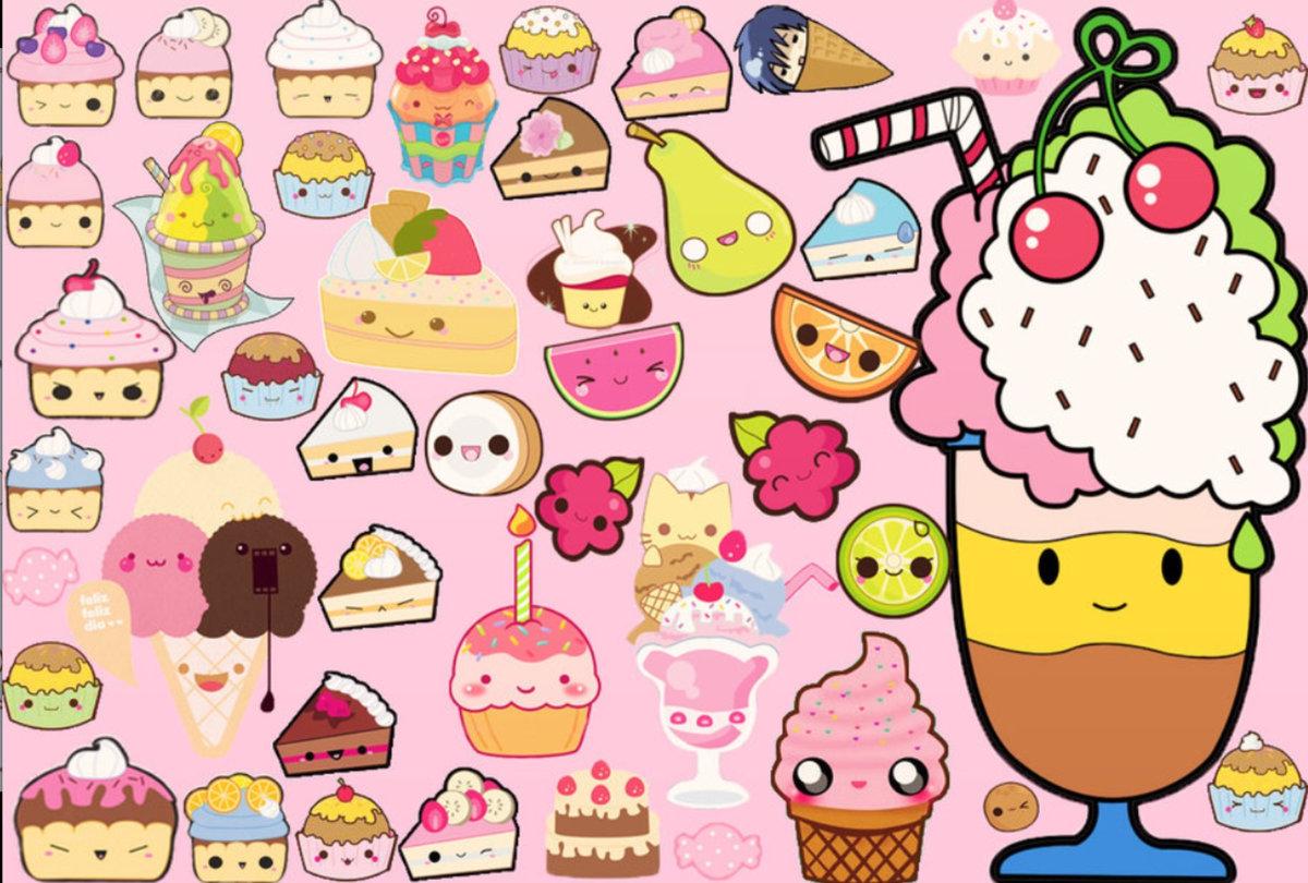 Картинки вкусняшек и сладостей для личного дневника