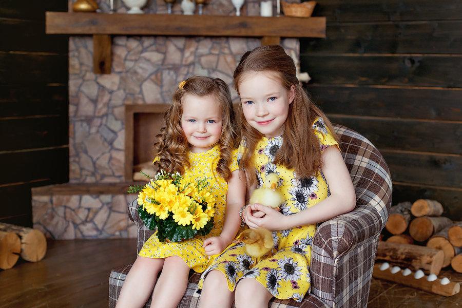 Две дочки картинки, своими руками