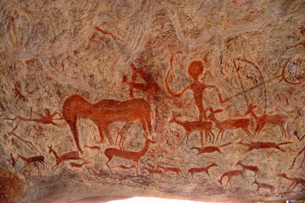 рисунки древних людей на стенах пещер мия