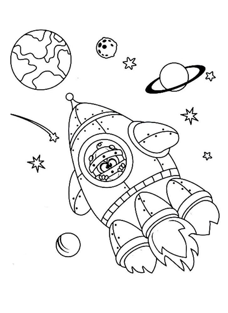 """«""""Смешарики в космосе"""".Раскраска для детей, хорошего ..."""