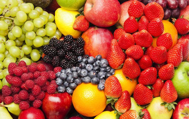 Картинки много фруктов для телефона