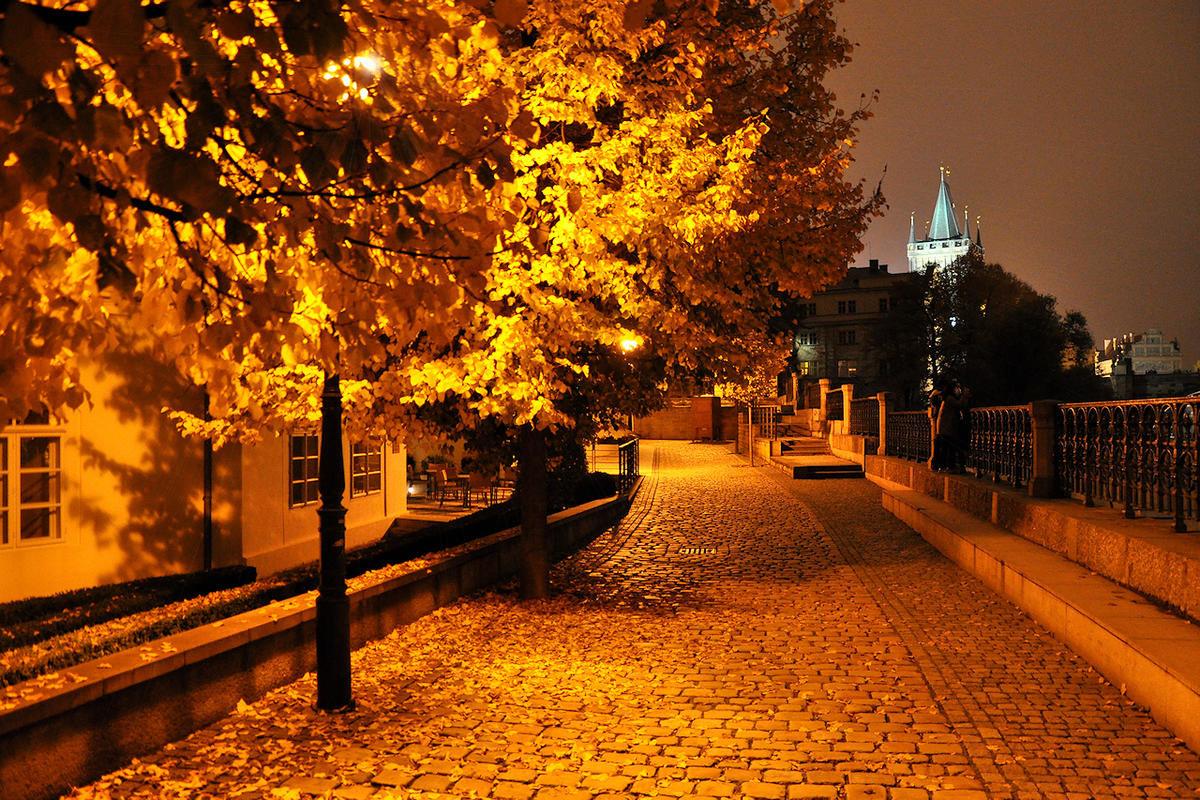 фото осеннего города