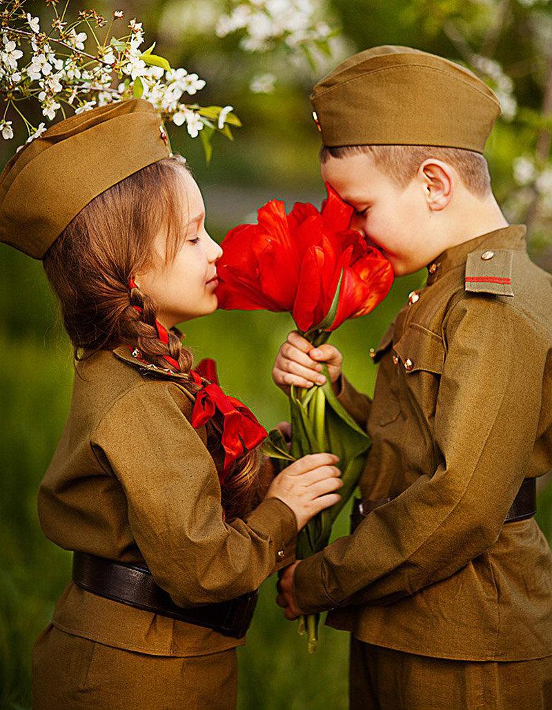 Картинки на 9 мая детям, розах поздравительные открытки