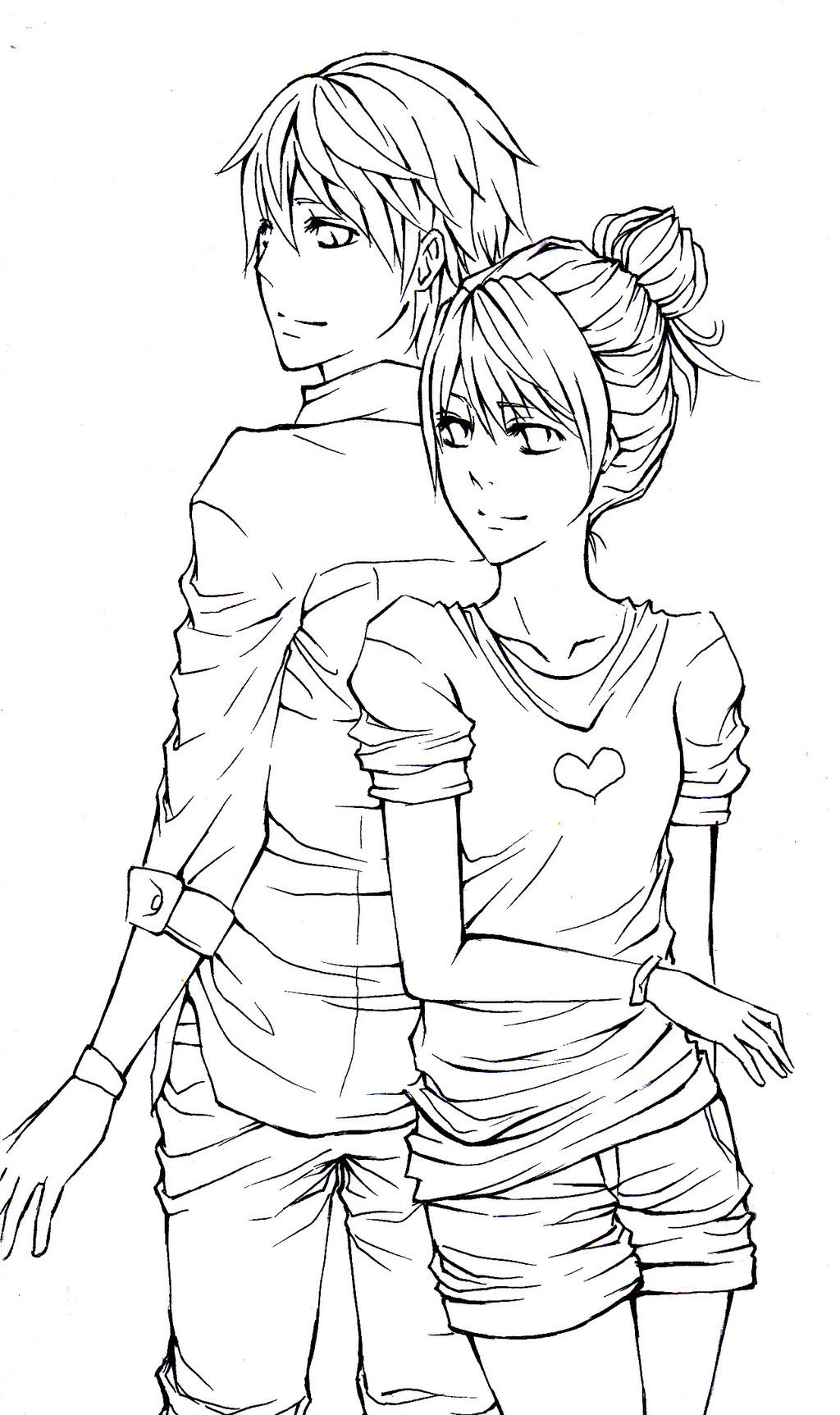 Cute couple coloring pages free coloring library
