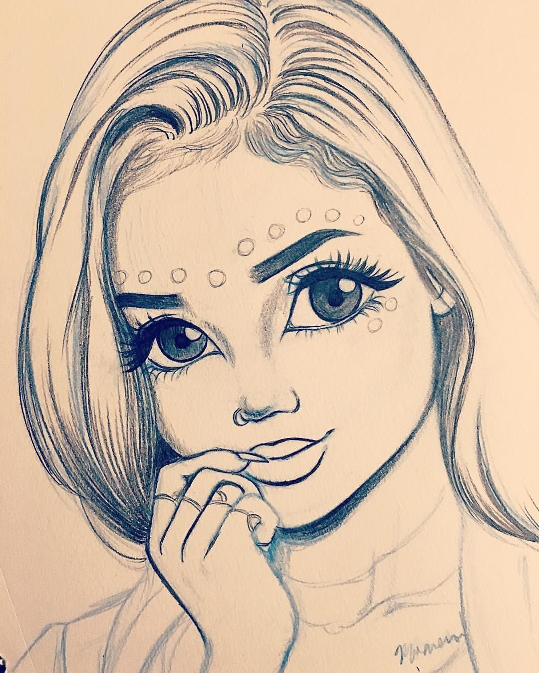 Картинки для девочек нарисовать