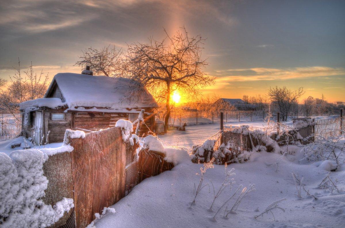 зимний пейзаж в деревне фото первом случае