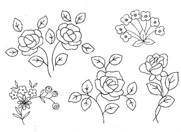 Вышивание тамбурным швом картинки со схемами