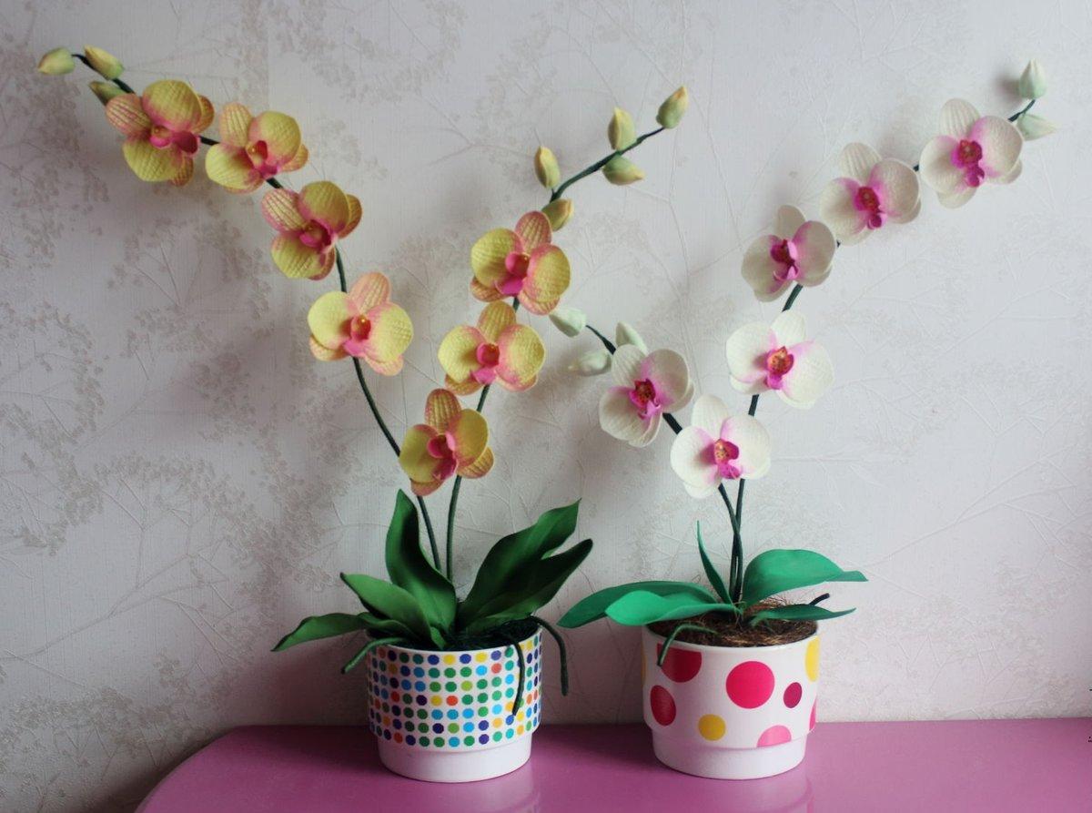цветы из фоамирана орхидеи фото