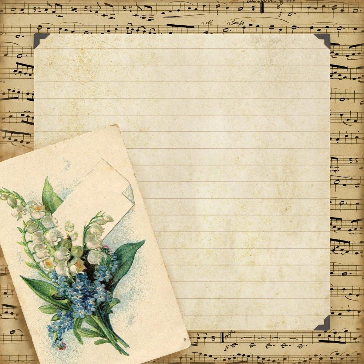 Открытка на листе альбомном листе