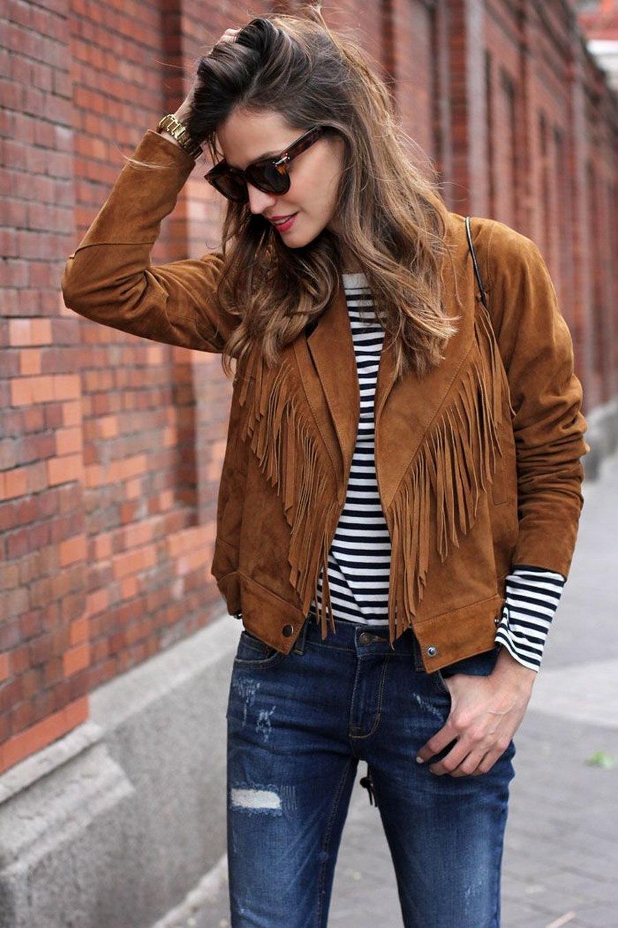 коричневая замшевая куртка с чем носить фото прошлые годы