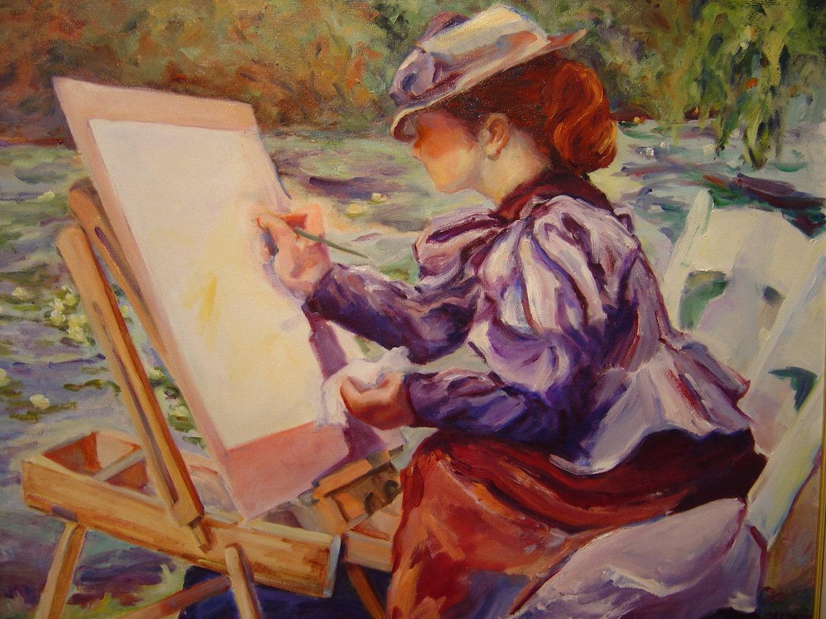 Художник в работе в картинках
