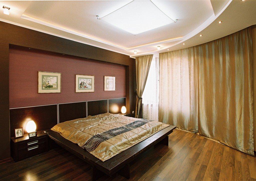 привлечь потолок гипсокартон фото спальня много