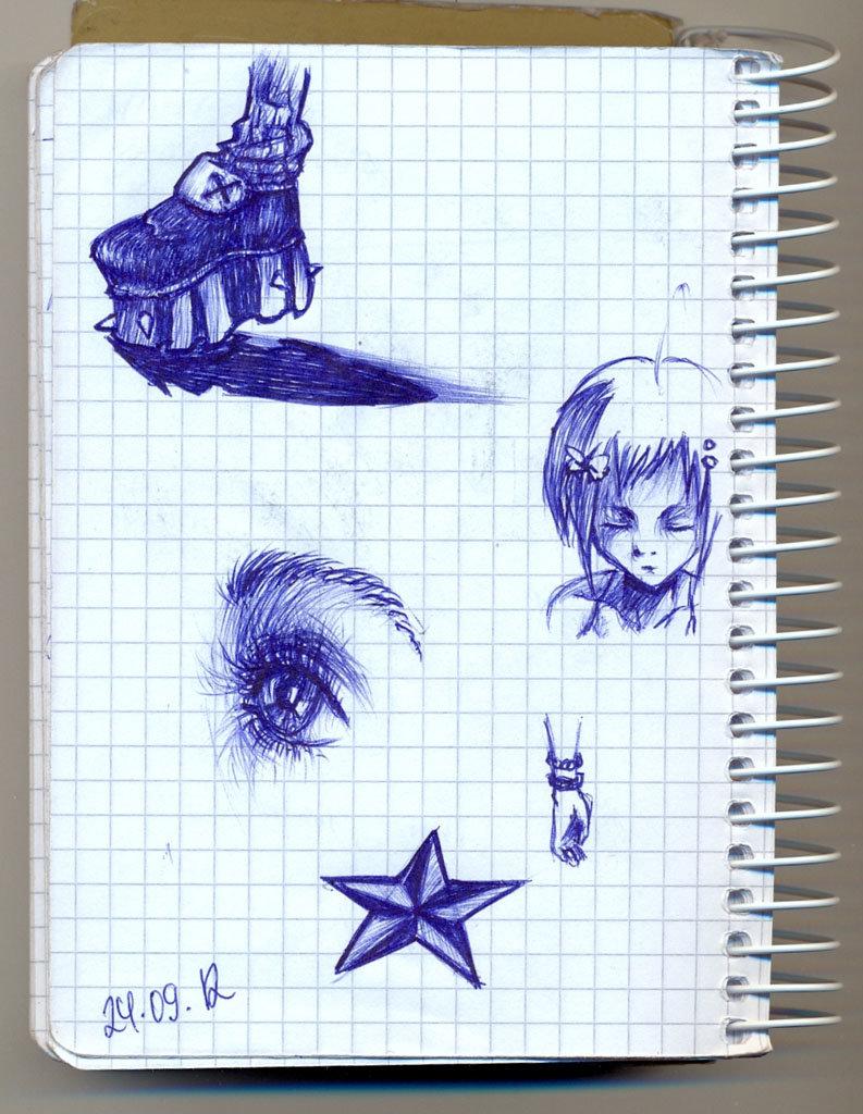 Прикольные рисунки в тетради для девочек карандашом