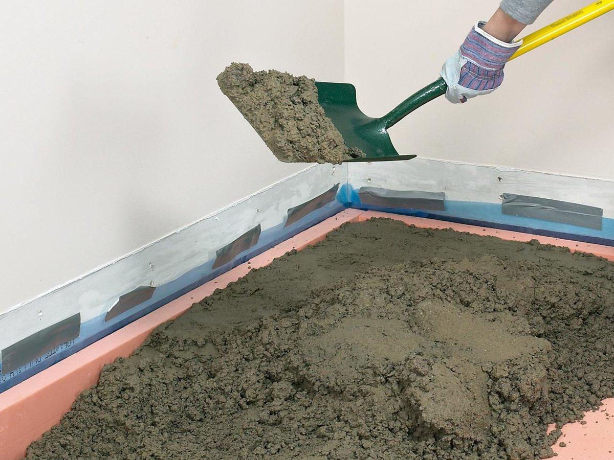 бетонные полы в доме