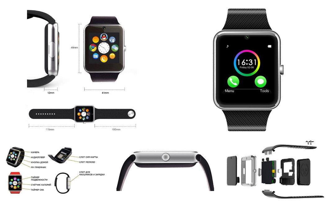 Обзор на смарт-часы smart watch gt08 с функцией телефона.