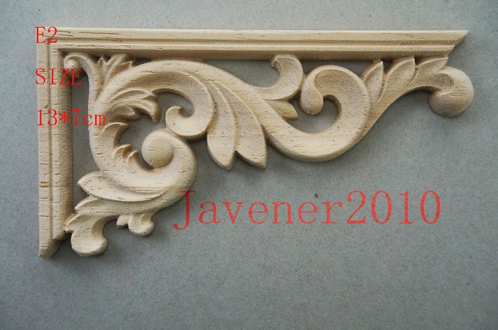 Carved wood scroll corner appliqué left and right trade me