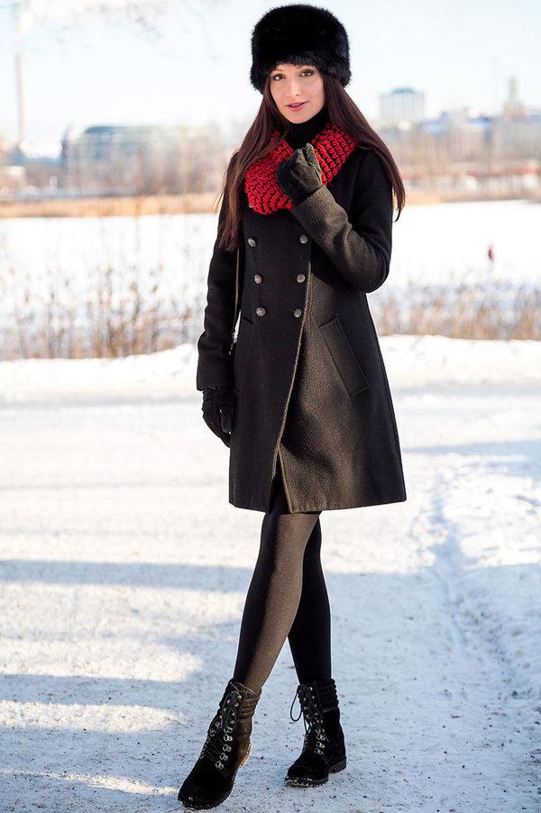 Шапка под зимнее пальто с мехом фото