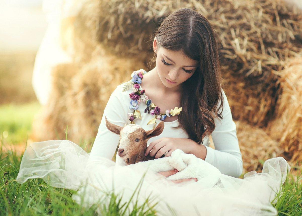 Очень, картинки женщины и животные
