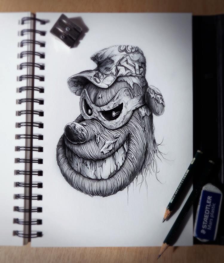 Рисунки животных в стиле людей нас работают