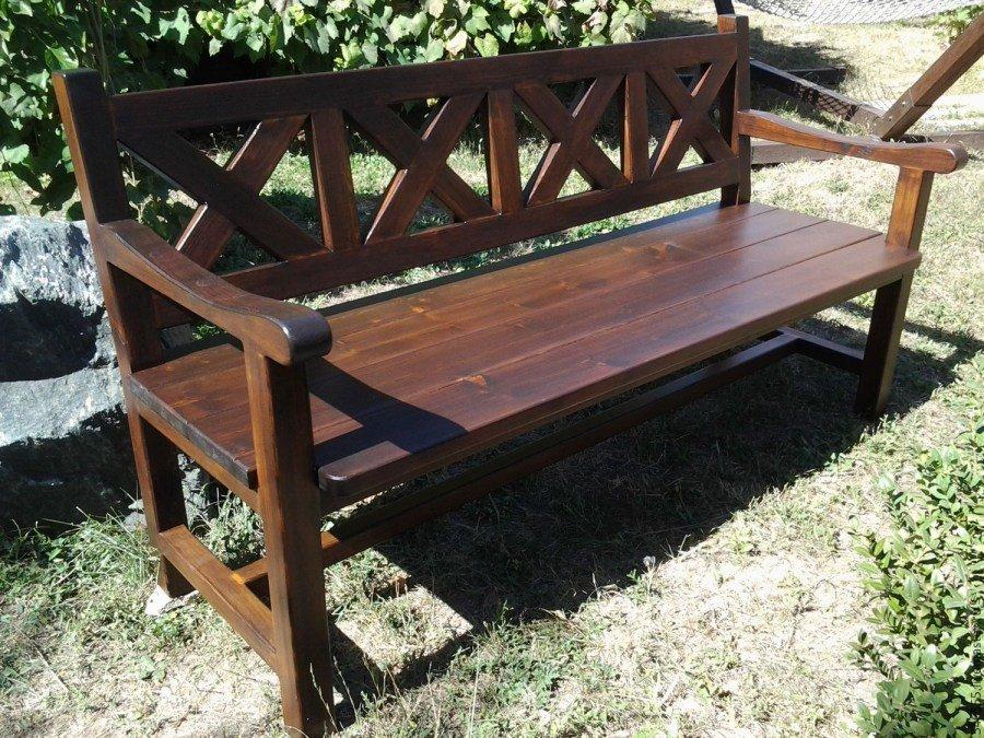 скамейки со спинкой из дерева фото добавилось