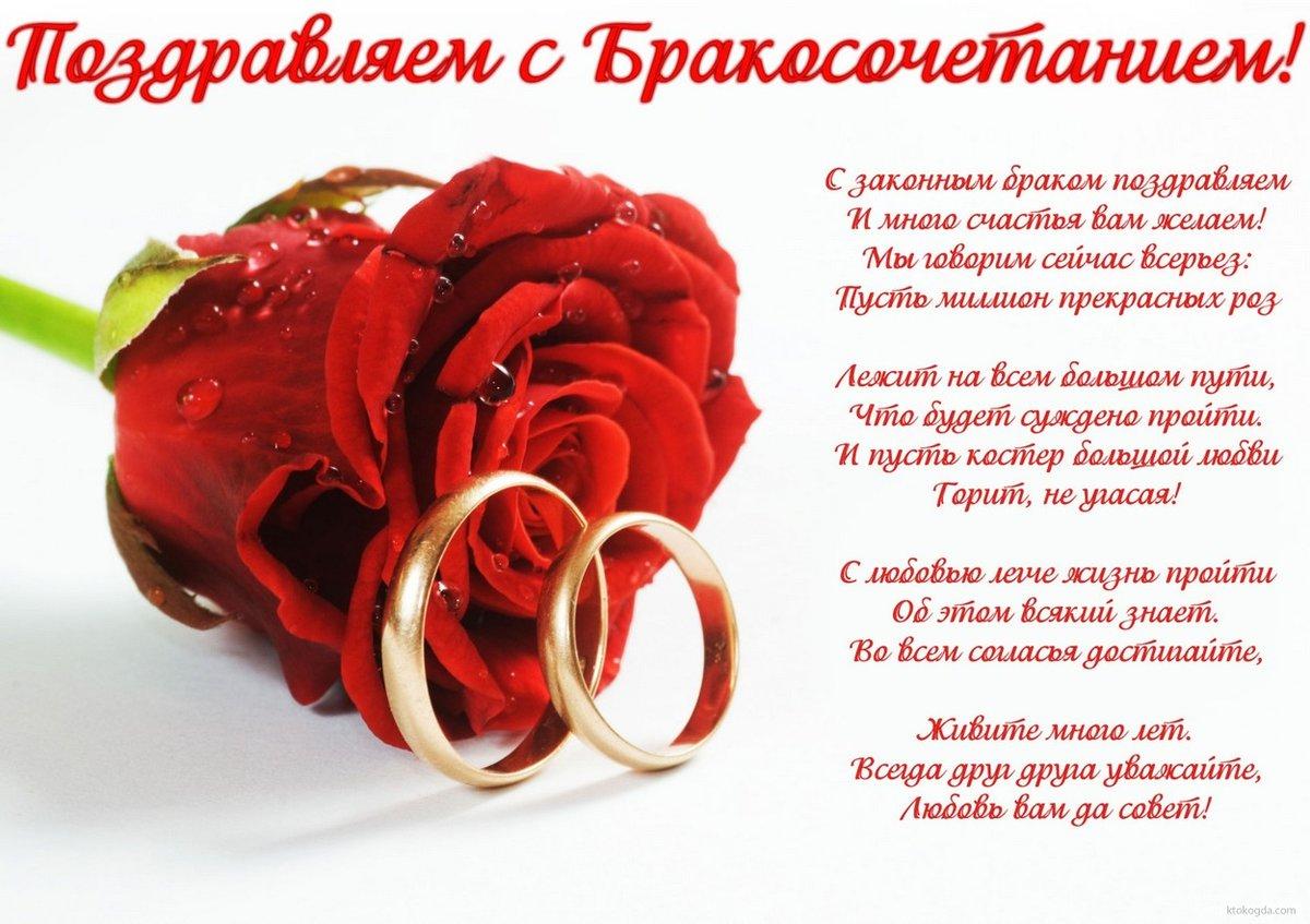 Красивые поздравления на открытку на свадьбу, для