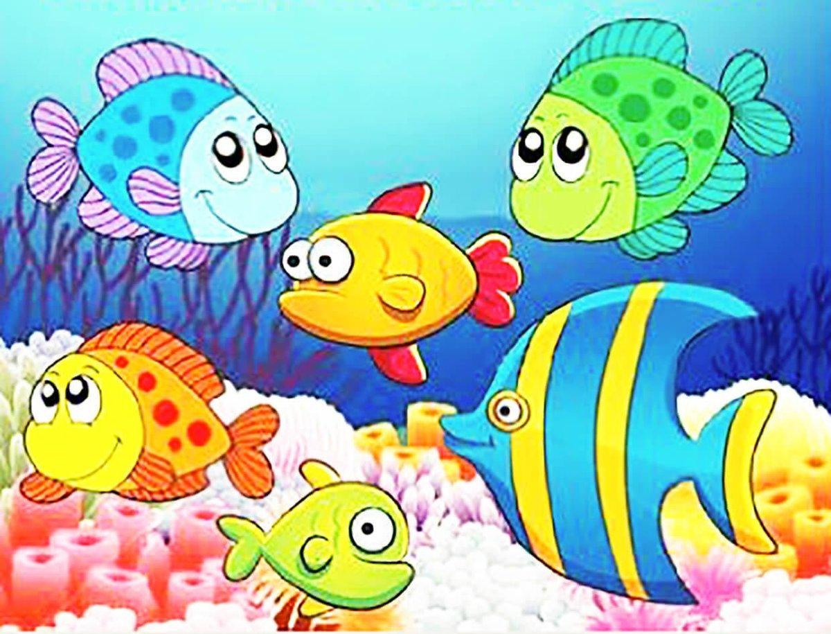 рисунки рыбок картинки цветные пресноводные возбудители