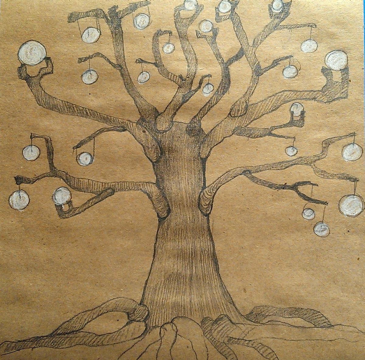 только пройдет рисунок дерева интерпретация фото же, сделала