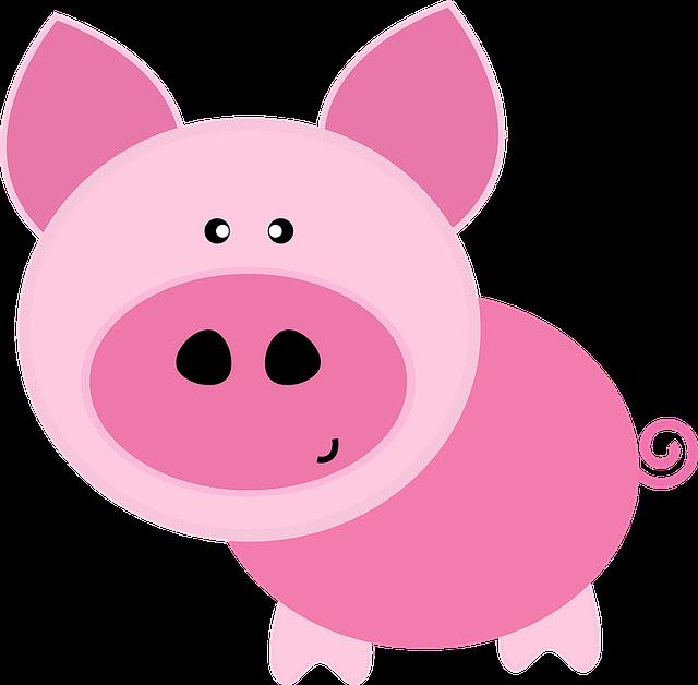 Аппликация свинья, поросенок, кабан из ткани, фетра как сдел ...