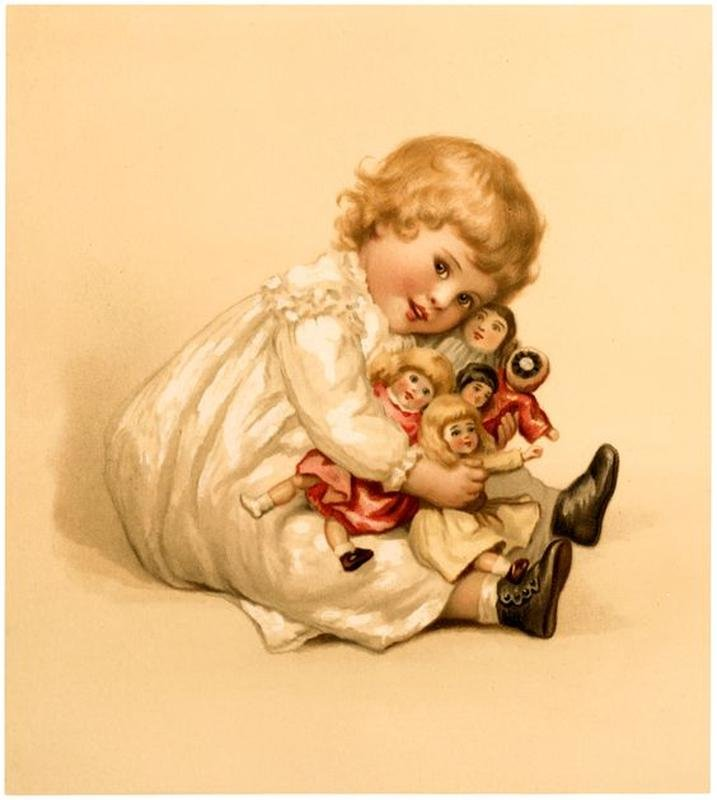 Про, открытки детские куклы