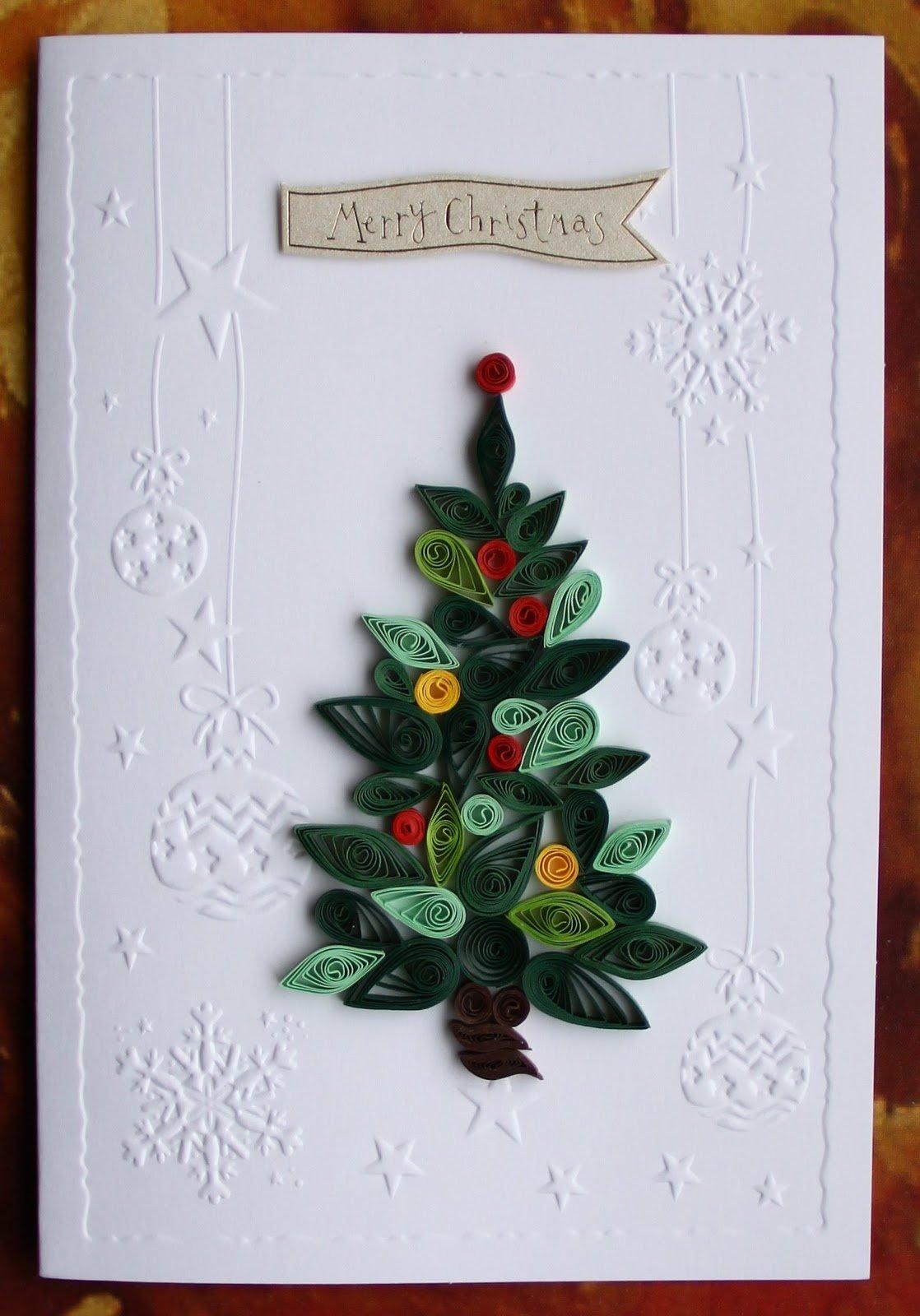 Квиллинг на новый год открытки