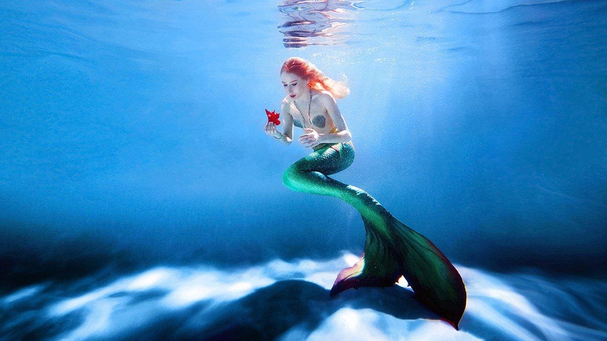 картинки русалочек в воде отпустить