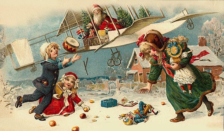 Зарубежные открытки рождественские
