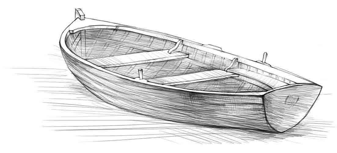 статье лодка картинка карандашом это воспаление