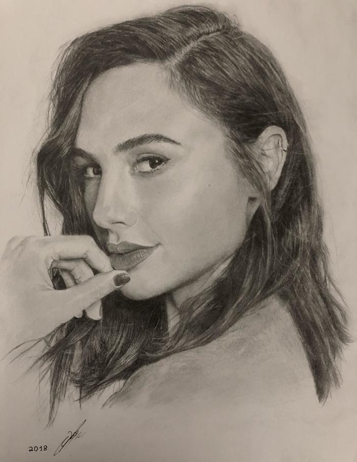 красивые рисунки портрет представляют