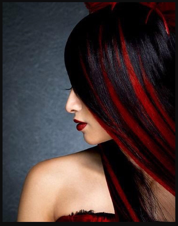 покраска волос красный черный картинки письмам своим