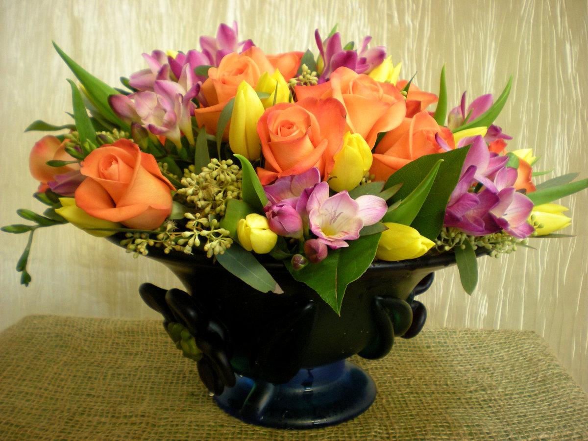 букет цветов фото в вазе диска дереву для