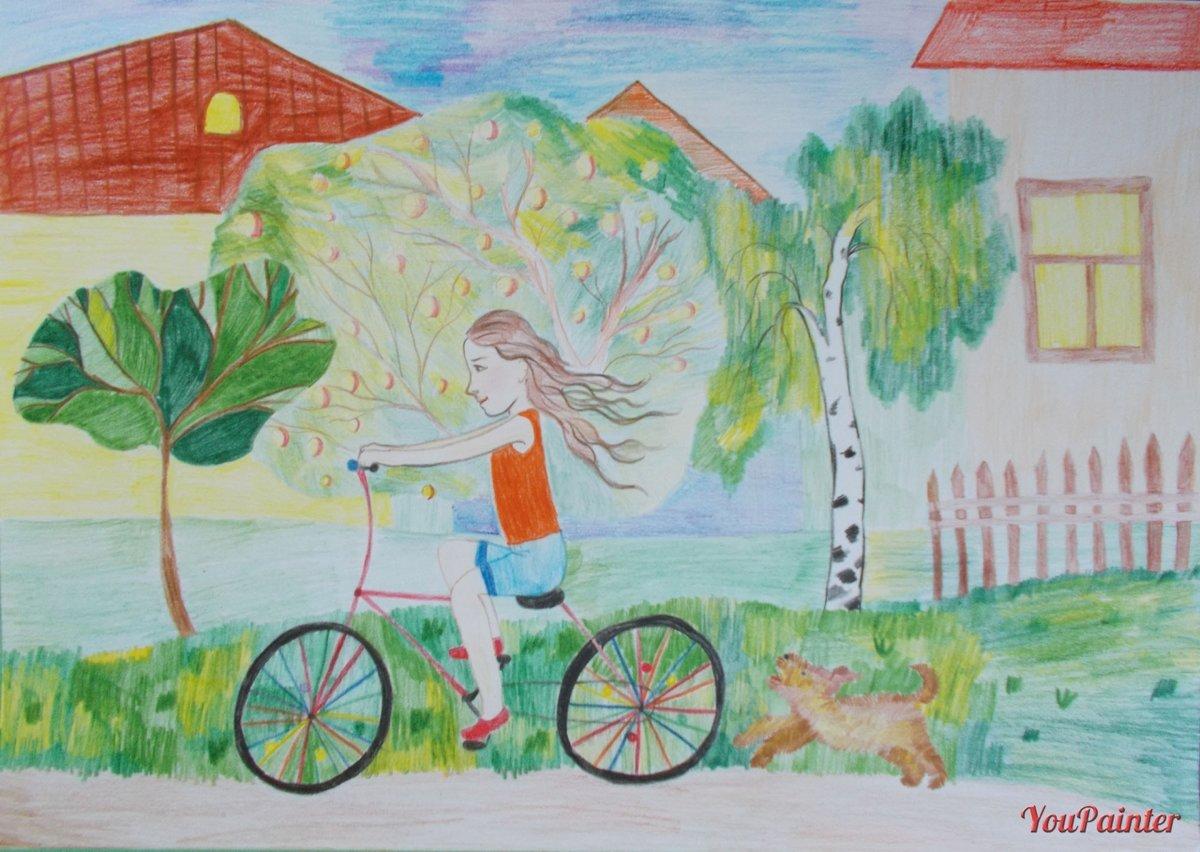 Лето рисунок 2 класс