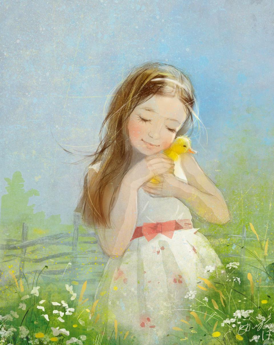 Дети лето открытки, глаза слезами анимация